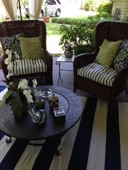 Wicker Chairs Reupholstered